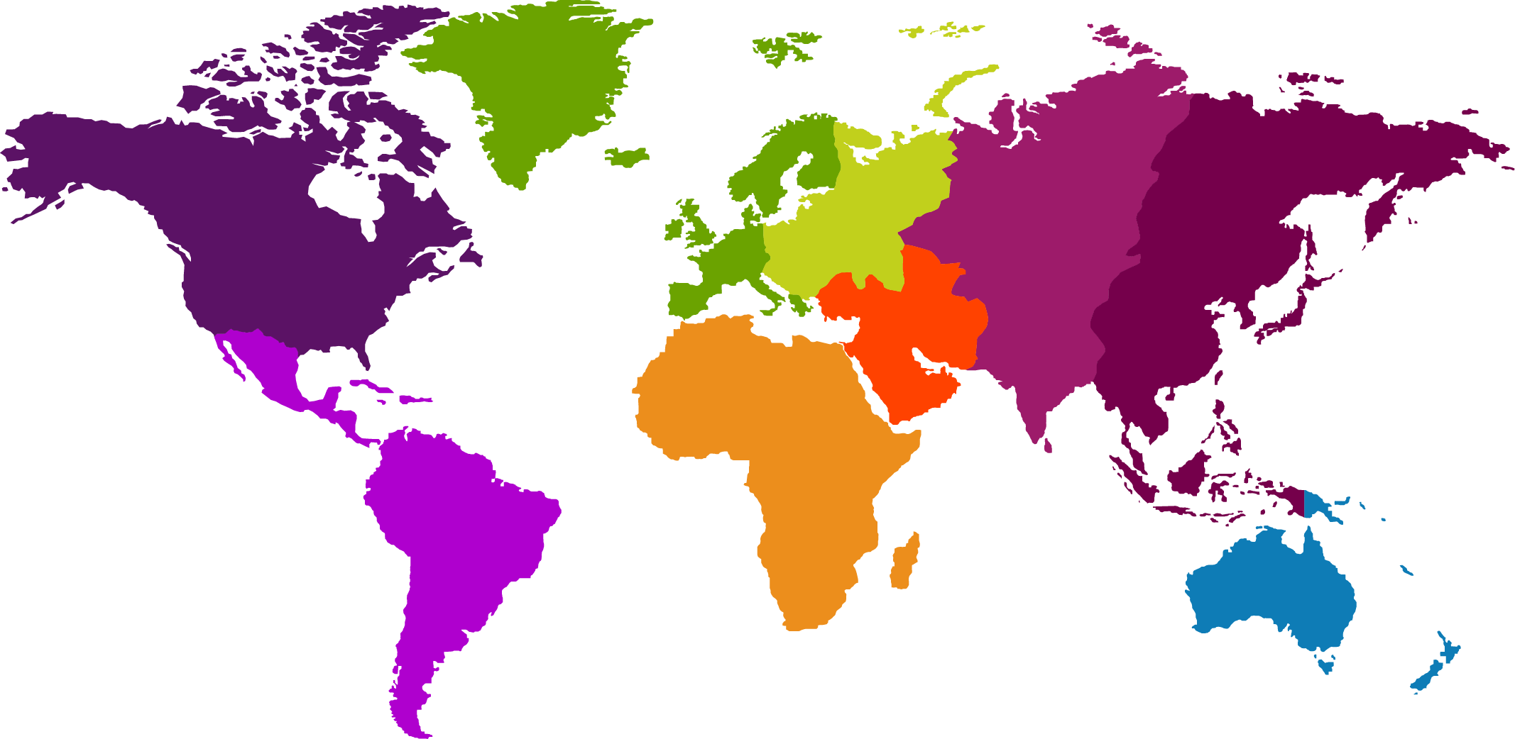 Map of World Continent