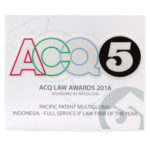 Award of Full Service IP Law Firm of the Year ACQ5 2016