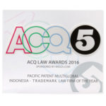 Award of Trademark Law Firm of the Year ACQ5 2016