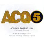 Award of Trademark Law Firm of the Year ACQ5 2014